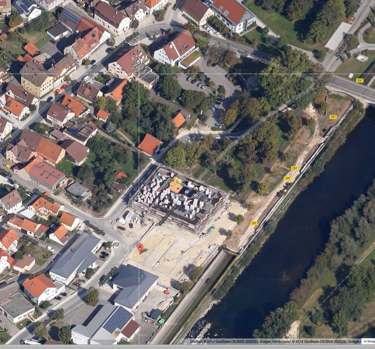 Ab Juni sehen Sie hier den Plan mit den eingezeichneten Ausstellungsflächen. © by Google Maps